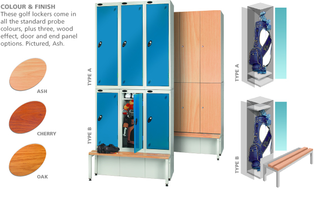 Golf Lockers, Tall Lockers, Bench Lockers, Kit Lockers